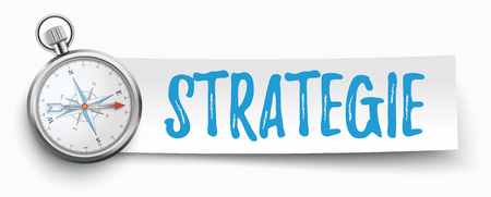 German text Strategie, translate Strategy. Eps 10 vector file.