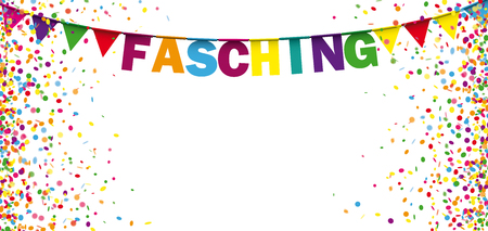 German text Fasching, translate Mardi Gras. Eps 10 vector file. Illustration