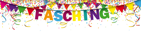 German text Fasching, translate Mardi Gras. Eps 10 vector file. Illustration