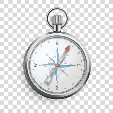 Compass on the checked background. Banque d'images - 118615414