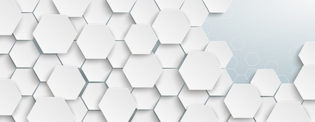 Hexagon structure on the gray background. Eps 10 vector file. Stockfoto - 122479977