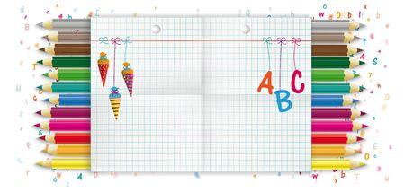 Banner design for the school enrollment. Eps 10 vector file.
