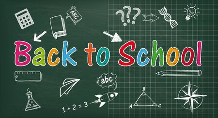 School board with the text Back to School. Eps 10 vector file.