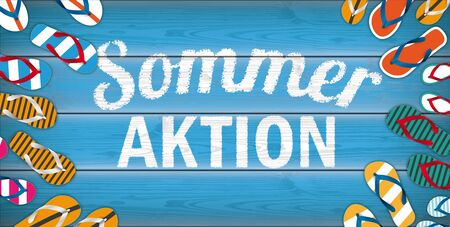 German  Sommer Aktion, translate Summer Sale.    vector file.