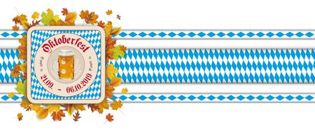 German  O´zapft is and Oktoberfest, translate on tap and Oktoberfest.   vector file.
