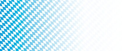 Rhombus structure with bavarian national colors. Eps 10 vector file.