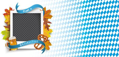 German text O zapft is and Oktoberfest, translate on tap and Oktoberfest. Eps 10 vector file. Ilustrace