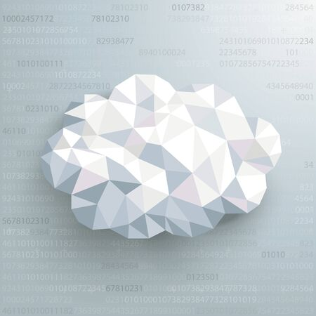 Hexagon structure with human head AI on the gray background. Eps 10 vector file.