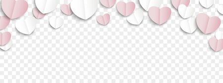 Paper hearts on the checked background. Eps 10 vector file. 矢量图像
