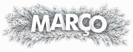 Portuguese word Marco, translated March. vector file. Vettoriali