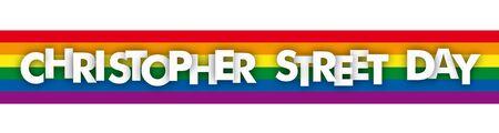 Christopher street day banner.  vector file. Çizim