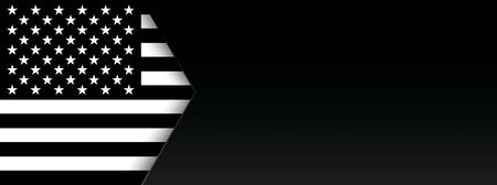 Header with the black USA. vector file.