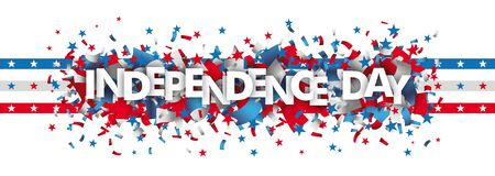 White independence day background design on the white. vector file.  イラスト・ベクター素材