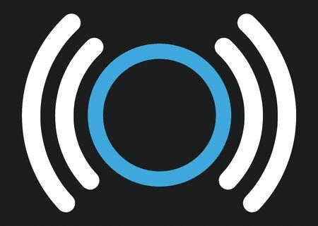 Corona tracking symbol on the black background. vector file.  イラスト・ベクター素材
