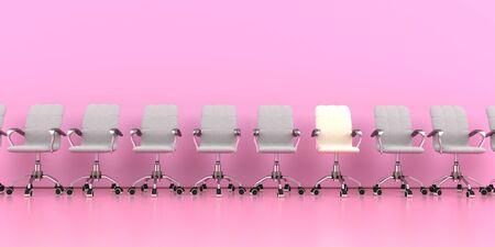 Women in leadership positions. 3d illustration. 写真素材