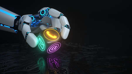 The support is the AI. 3d illustration.