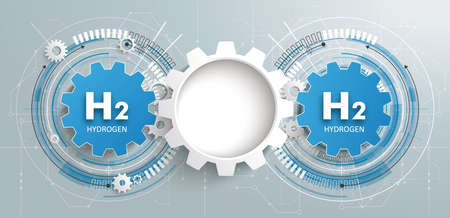 The industry of the future runs on hydrogen. vector file.