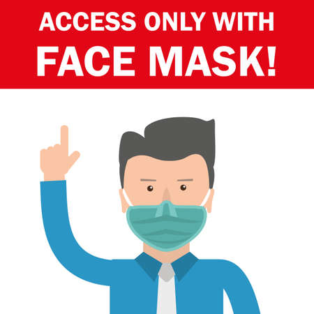 Access only  face mask.   vector file.