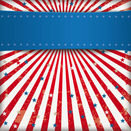 Vintage background US national colors. vector file.