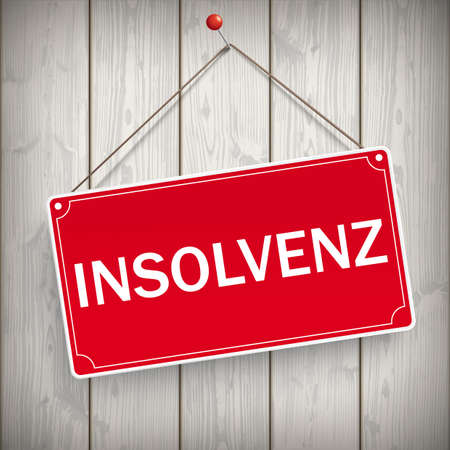"""German text """"Insolvency"""", translate """"Insolvency"""". vector file."""
