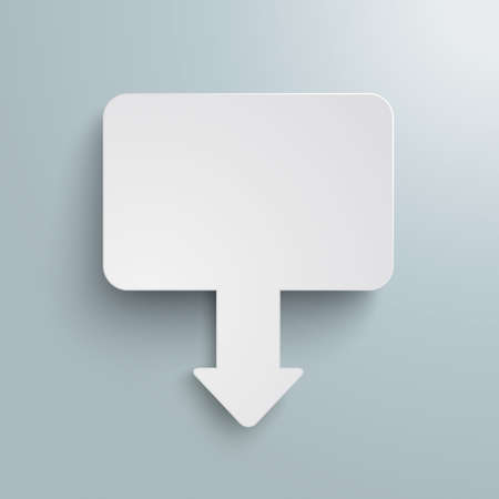 Rectangle marker on the gray background. Eps 10 vector file.