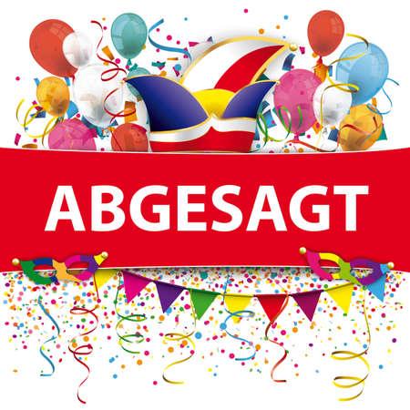 German text Abgesagt, translate Cacelled.