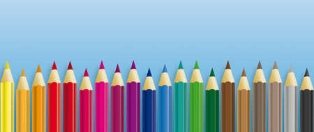 Colored pencils on the  background.   vector file.