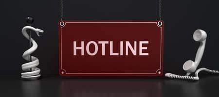 Hotline for medical questions. 3d illustration.