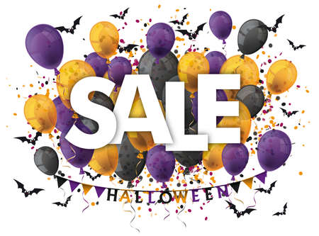 Cover for a halloween sale.   vector file. Vettoriali