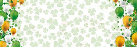 Green vintage banner for St Patricks Day.