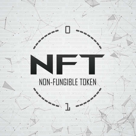 NFT cover with low poly network.