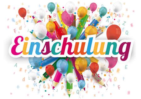German text Einschulung, translate Enrollment.