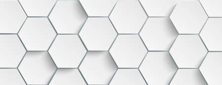 Hexagon structure on the gray background. Vetores
