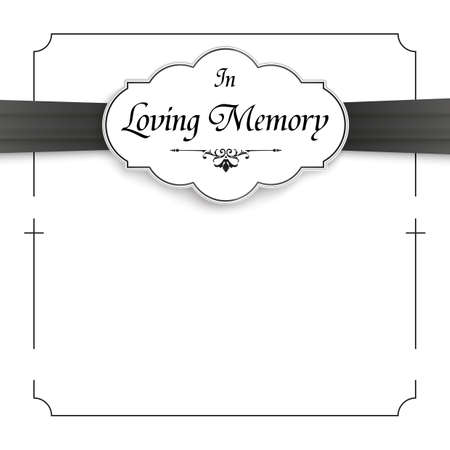 Obituary with the text In Loving Memory.