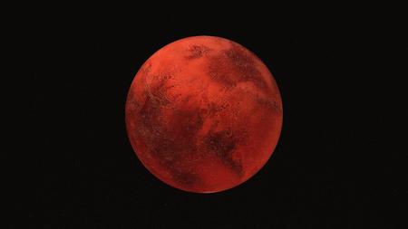 매우 상세 하 고 현실적인 고해상도 화성 붉은 행성의 3D 일러스트 레이 션. 우주에서 쐈어. 이 이미지의 요소는 NASA에 의해 제공됩니다.