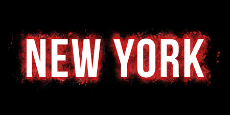Artistic visualization of the wording NEW YORK.