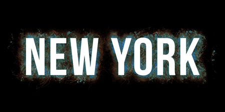 Artistic big bold wording of NEW YORK.