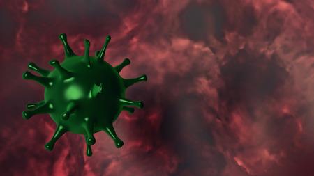 3D illustration of a Virus.