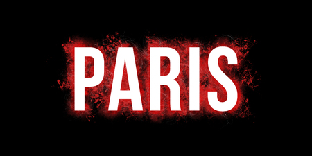 Bold Paris artistic big bold wording of paris. stock photo, picture and royalty