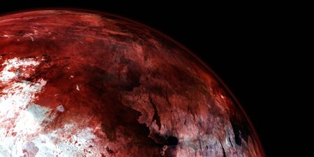 Terraforming Mars like Planet. Extremely detailed and realistic high resolution 3D image. Shot from Space.