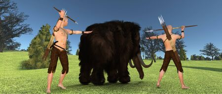 Mammoth Extremely detailed and realistic high resolution 3d image