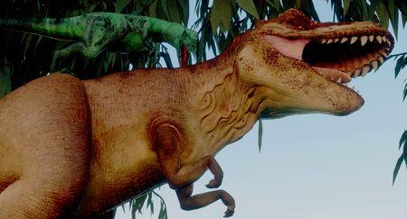 Extinct dinosaur during the jurassic period