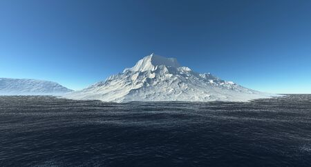 Iceberg extremely detailed and realistic high resolution 3d image