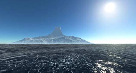 Iceberg extremely detailed and realistic high resolution 3d image Banco de Imagens - 132995447