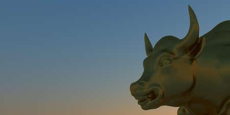 Charging Bull Wall Street Bull 3D imageof the Bowling Green Bull