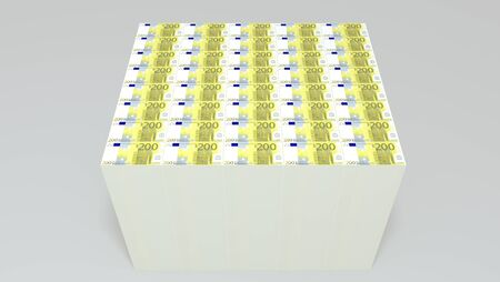 euro money stack 3d image