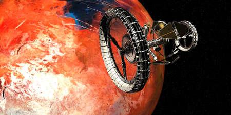 Spaceship futuristic Space Travel 3D image
