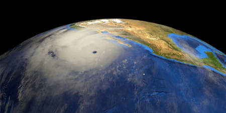 Hurricane shown from Space.