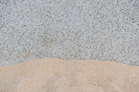 granite wall: Granite wall with sand