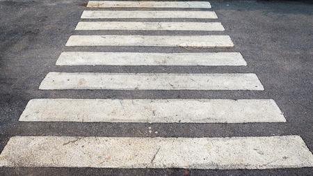 crossway: Asphalt road with white crossway